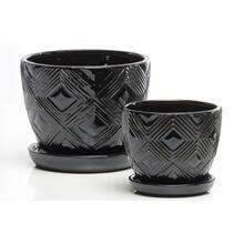 Acoustic Petits Pots w/attchd saucer S/2 4set/ctn