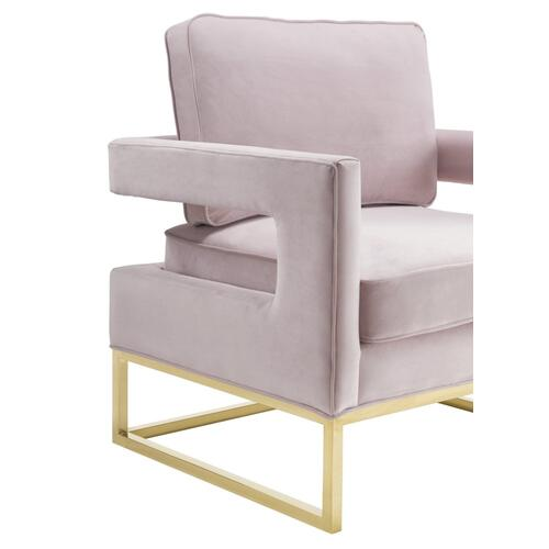 Avery Blush Velvet Chair
