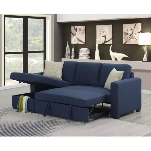 Emerald Home Storage Chaise With 1 Pillow-blue-u4339-11-04