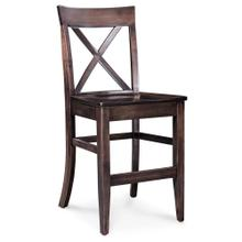 """View Product - Maxwell Stationary Barstool, Wood Seat / 30"""" Seat Height"""