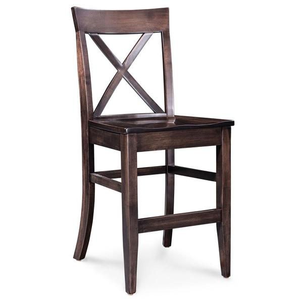 """See Details - Maxwell Stationary Barstool, Fabric Cushion Seat / 30"""" Seat Height"""