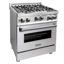 ZLINE 30 in. Professional Gas on Gas Range in Stainless Steel with DuraSnow® Stainless Steel Door (RG-SN-30)