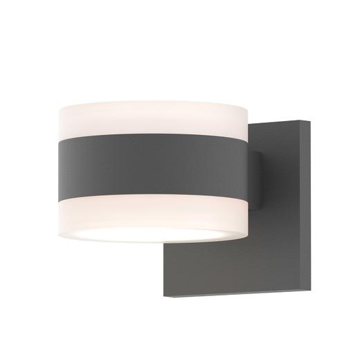 Sonneman - A Way of Light - REALS® Up/Down LED Sconce [Color/Finish=Textured Gray, Lens Type=White Cylinder Lenses]