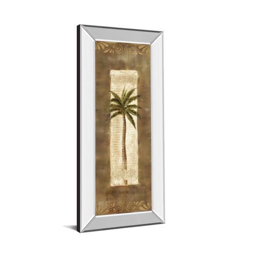 """Classy Art - """"Scroll Palm Il"""" By Carol Robinson Mirror Framed Print Wall Art"""
