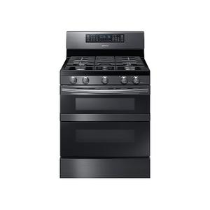 Samsung Appliances5.8 cu. ft. Freestanding Gas Range with Flex Duo™ & Dual Door in Black Stainless Steel