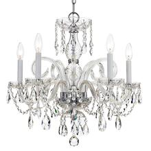 See Details - Traditional Crystal 5 Light Swarovski Strass Crystal Chrome Chandelier