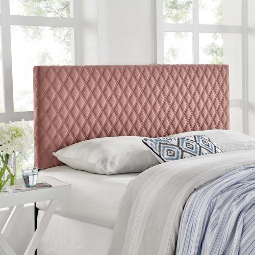 Angela Twin Performance Velvet Headboard in Dusty Rose