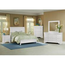 Sleigh Bed with Low Profile Footboard Queen & King