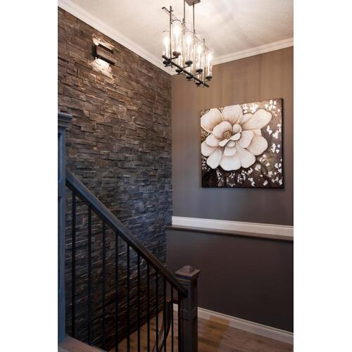 Ethan Linear Chandelier Antique Forged Iron / Brushed Steel