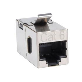 Cat6 Straight Through Modular Shielded In-line Snap-in Coupler (RJ45 F/F), TAA