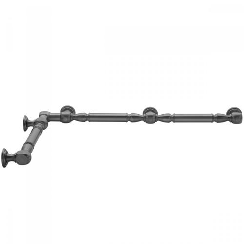 "Oil-Rubbed Bronze - G20 24"" x 60"" Inside Corner Grab Bar"