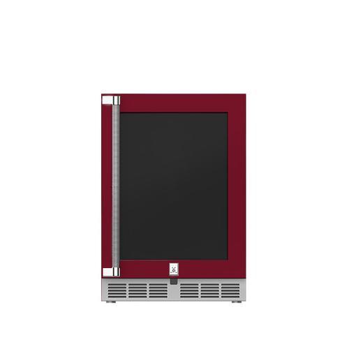 """Hestan - 24"""" Hestan Outdoor Undercounter Refrigerator (Glass Door) - GRGR Series - Tin-roof"""