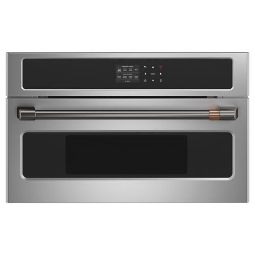 "Cafe - Café™ Wall Oven/Advantium® oven pro handle kit - 27"" - Brushed Black"