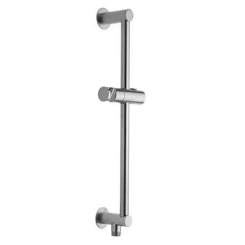 "Polished Chrome - 24"" Contemporary Slim Wall Bar with Bottom Outlet Integral Water Supply"