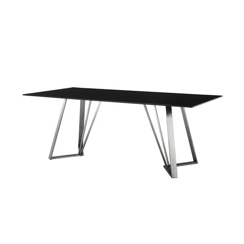 Armen Living - Cressida Glass and Stainless Steel Rectangular Dining Room Table