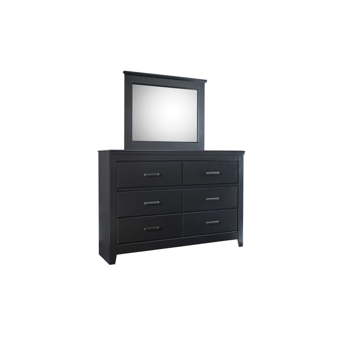 Modesto 6 Drawer Dresser, Black