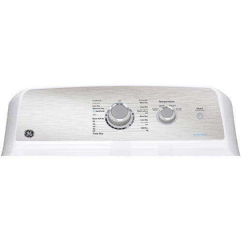 GE Appliances Canada - GE 7.2 cu.ft. Top Load Electric Dryer with SaniFresh Cycle White - GTD40EBMRWS