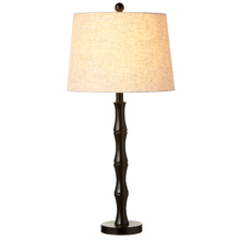 Faux Bamboo Black Table Lamp. 150W Max. 3 Way Switch.