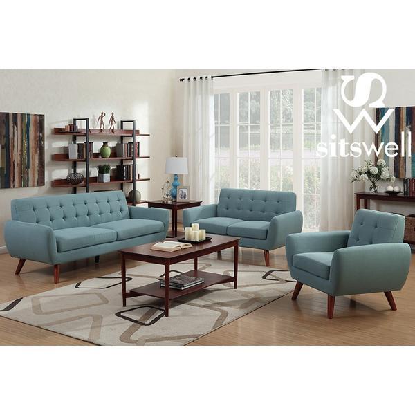 See Details - Daphne Teal Sofa & Chair, SWU6918