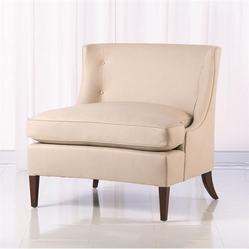 Severn Lounge Chair-Beige Leather