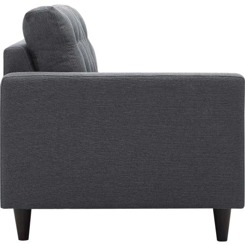 Modway - Empress 2 Piece Upholstered Fabric Right Facing Bumper Sectional in Gray