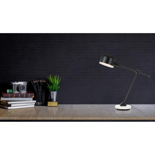 60W Allendale Metal Desk Lamp With Marble Base And Metal Shade