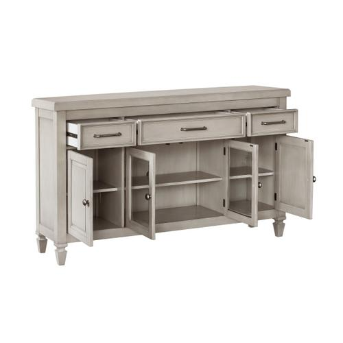 Accentrics Home - 4 Door 3 Drawer Console-KD CTN 1/2 in Gray