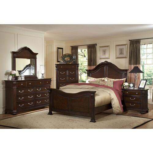 "EMILIE 6'6"" K HEADBOARD- TUDOR BROWN"