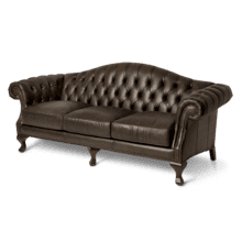 Knightsbridge Charterhse Leather Sofa in Galliano Espresso