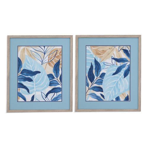 Bassett Mirror Company - 2 PC Blue Jungle