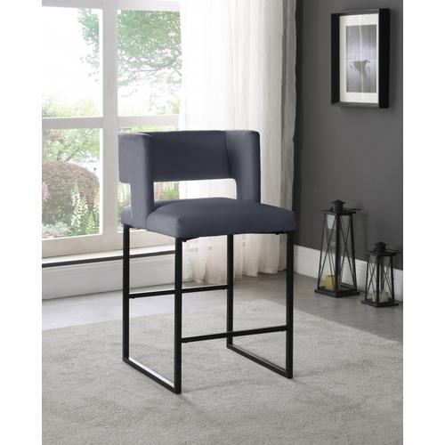 "Caleb Velvet Counter Stool - 19.5"" W x 20.5"" D x 36"" H"