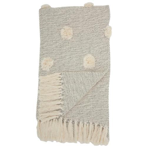 "Throw Sh019 Grey 50"" X 60"" Throw Blanket"