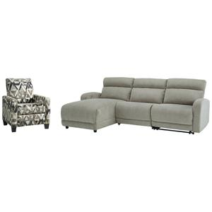Ashley - 3-piece Sectional With Recliner