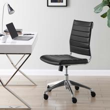 See Details - Jive Armless Mid Back Office Chair in Black