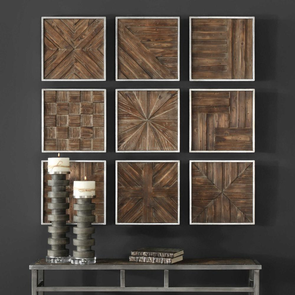See Details - Bryndle Squares Wood Wall Decor, S/9