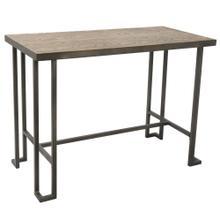 Roman Counter Table - Antique Metal, Bamboo