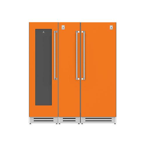 "Hestan - 72"" Wine Cellar (L), Column Freezer and Refrigerator ® Ensemble Refrigeration Suite - Citra"