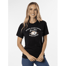 Doing Stupid Things Faster with Coffee T-Shirt - M