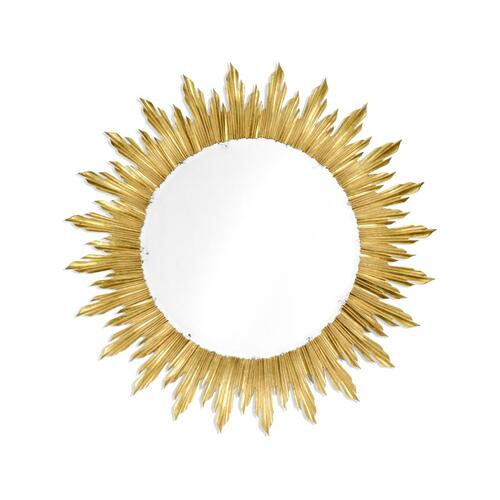 Large gilded sunburst mirror