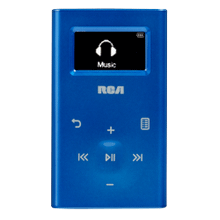 Ultra compact 4GB digital audio player (blue)