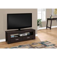 "TV STAND - 48""L / ESPRESSO WITH 2 STORAGE DRAWERS"