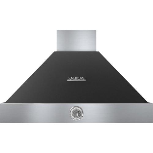 Hood DECO 36'' Black matte, Chrome 1 power blower, analog control, baffle filters