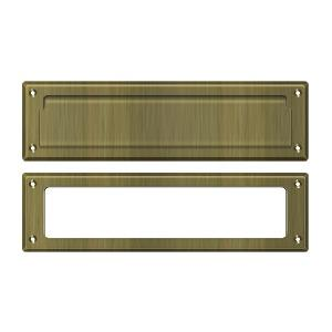 """Deltana - Mail Slot 13-1/8"""" with Interior Frame - Antique Brass"""