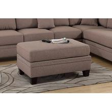 Iwan Cocktail Ottoman, Coffee-cotton-blend