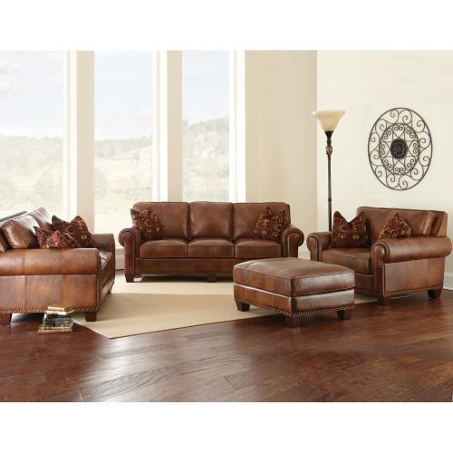 Steve Silver Co. - Silverado Leather 4-Piece Set (Sofa, Loveseat, Chair & Ottoman)