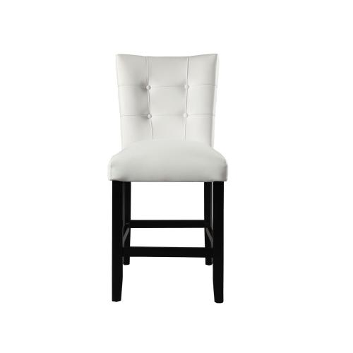 Markina White PU Counter Chair