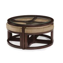 Round Cocktail Table w/4 Stools
