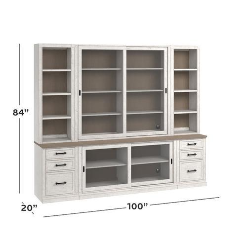 """Bella 100"""" Library Bookcase"""