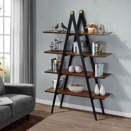A-Frame Multi-toned Bookcase in Walnut