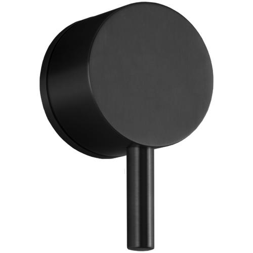 """Volume Control 1/2"""" Trim Kit, RND + Lever, Equal Plate Black"""